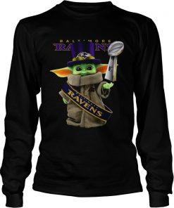 Baby Yoda Baltimore Ravens Cup  LongSleeve