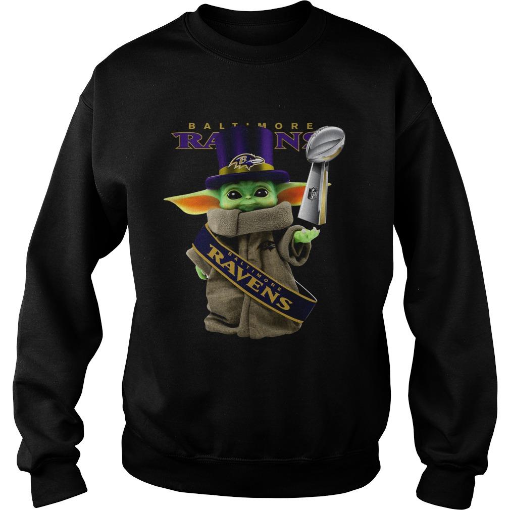 Baby Yoda Baltimore Ravens Cup Sweatshirt