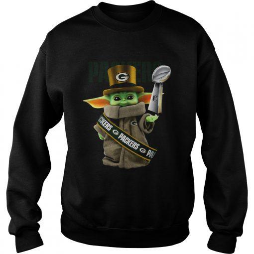 Baby Yoda Green Bay Packer Cup  Sweatshirt