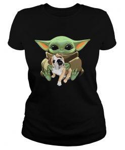 Baby Yoda Hug Bulldog  Classic Ladies