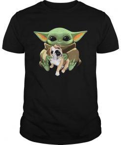 Baby Yoda Hug Bulldog  Unisex