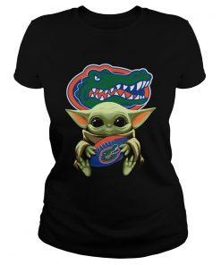 Baby Yoda Hug Florida Gators  Classic Ladies