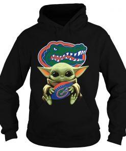 Baby Yoda Hug Florida Gators  Hoodie