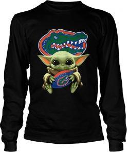 Baby Yoda Hug Florida Gators  LongSleeve