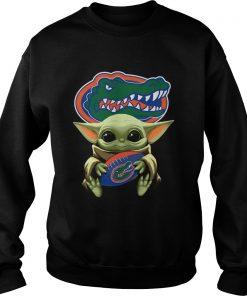 Baby Yoda Hug Florida Gators  Sweatshirt