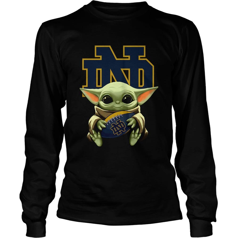 Baby Yoda Hug Notre Dame LongSleeve