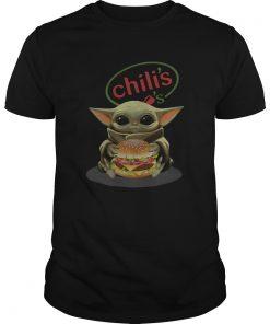 Baby Yoda Hugging Chilis Burger  Unisex