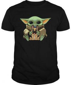 Baby Yoda Hugging German Shepherd  Unisex