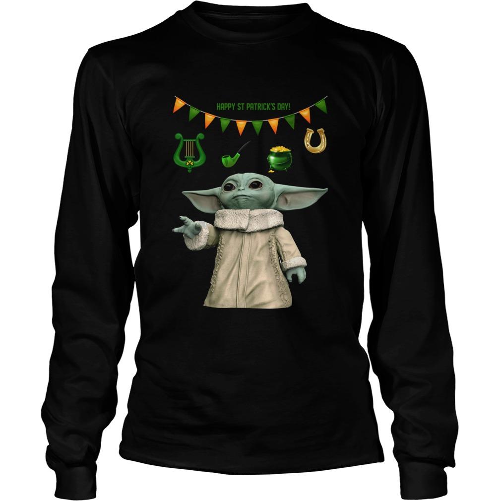 Baby Yoda St Patricks Day LongSleeve