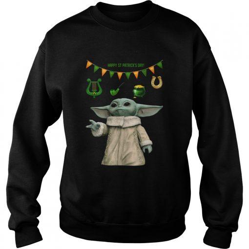 Baby Yoda St Patricks Day  Sweatshirt
