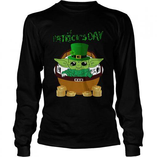 Baby Yoda The Mandalorian Happy St Patricks Day  LongSleeve