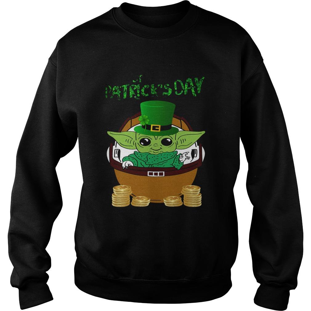 Baby Yoda The Mandalorian Happy St Patricks Day Sweatshirt