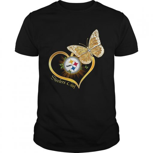 Heart Butterfly And Pittsburgh Steelers Girl  Unisex