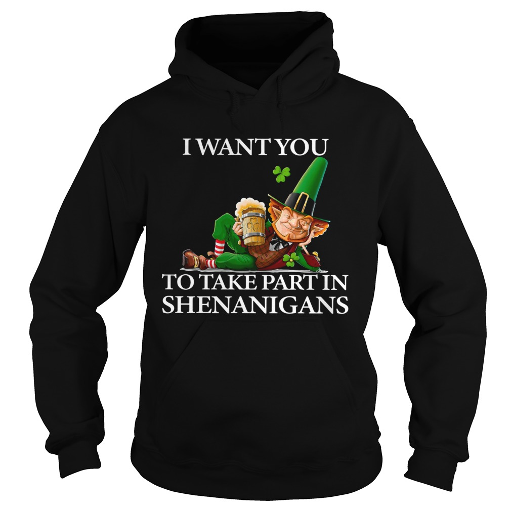 I Want You To Take Part In Shenanigans St Patricks Day Hoodie