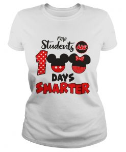 My Students Are 100 Days Smarter Mickey  Classic Ladies