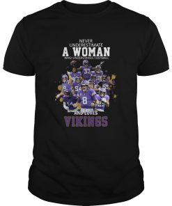 Never Underestimate A Woman Who Understands Football And Loves Viking  Unisex