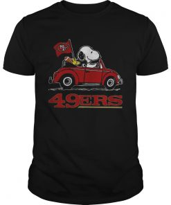 Snoopy Driving Volkswagen San Francisco 49ers  Unisex