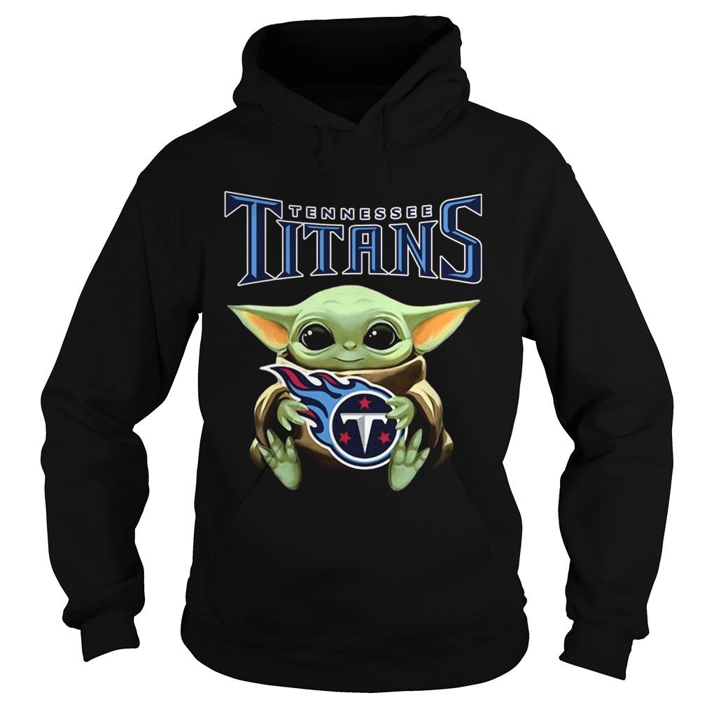 Star Wars Baby Yoda hug Tennessee Titans Hoodie