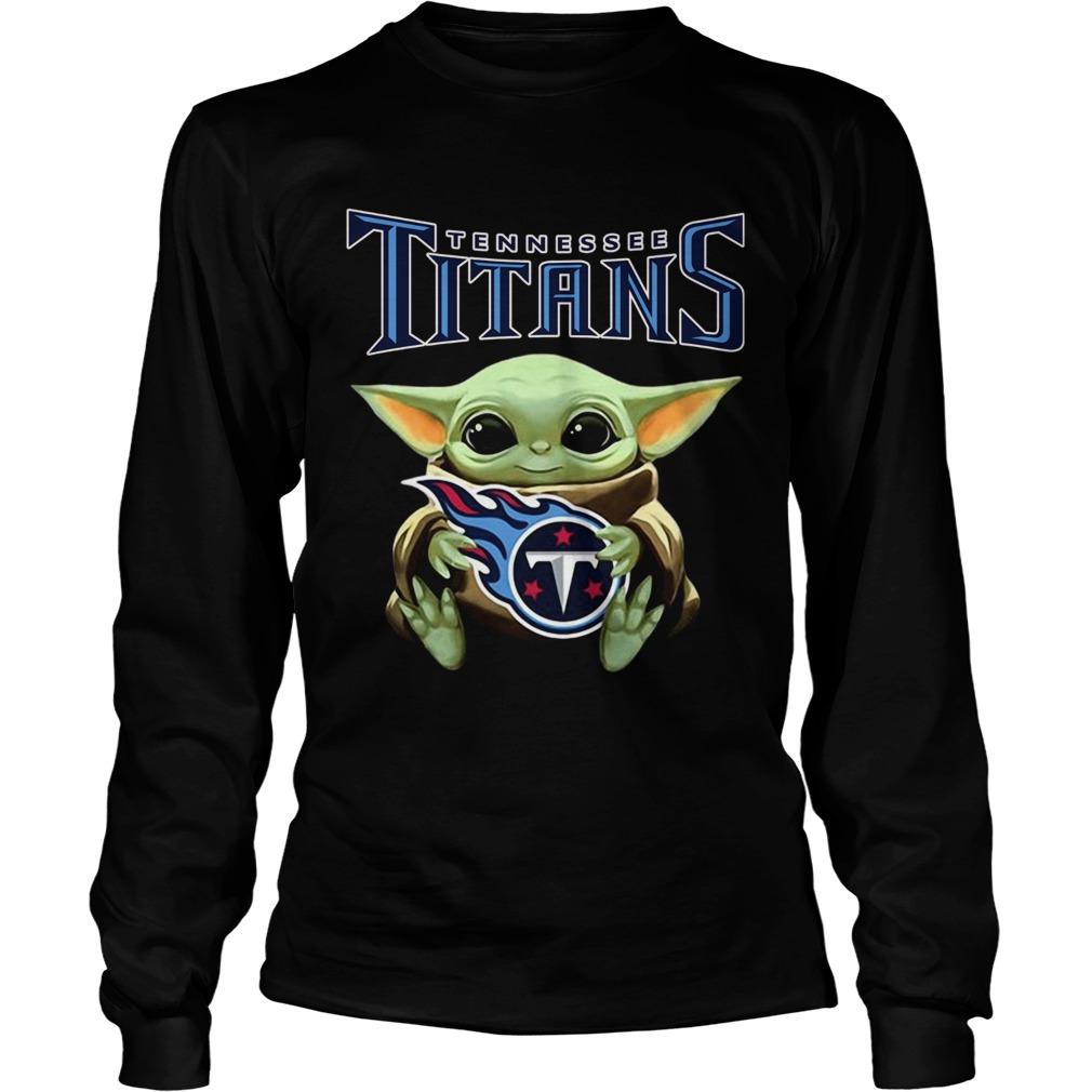 Star Wars Baby Yoda hug Tennessee Titans LongSleeve