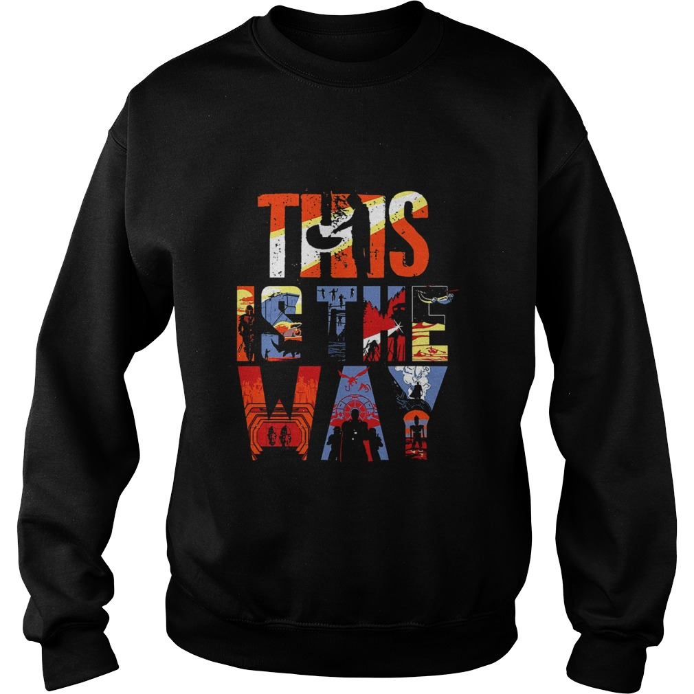 The Mandalorian this is the way art Sweatshirt