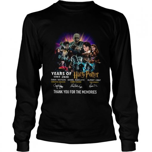 Year of 19972020 Harry Potter thank you for the memories signatures  LongSleeve