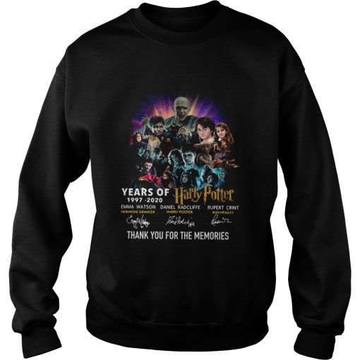 Year of 19972020 Harry Potter thank you for the memories signatures  Sweatshirt