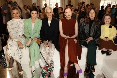 Laura Bailey, Cassandra Grey, Samantha Ronson, Karen Elson, Alexa Chung, and Sinéad Burke at Victoria Beckham