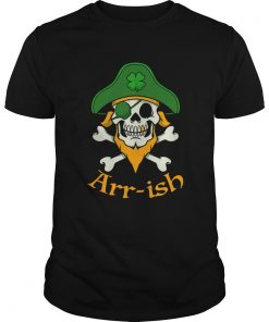 ARRish Funny Irish Pirate Clover Skull Cool St Patricks Day  Unisex