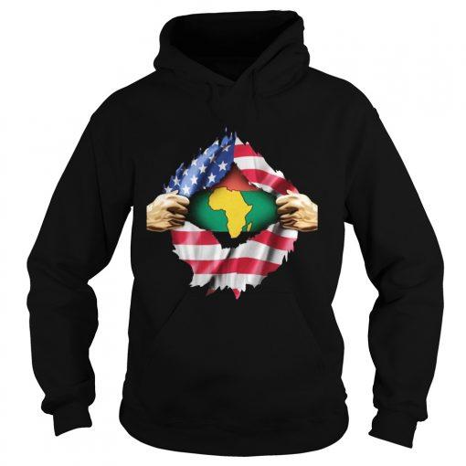 African Blood Inside My American  Hoodie