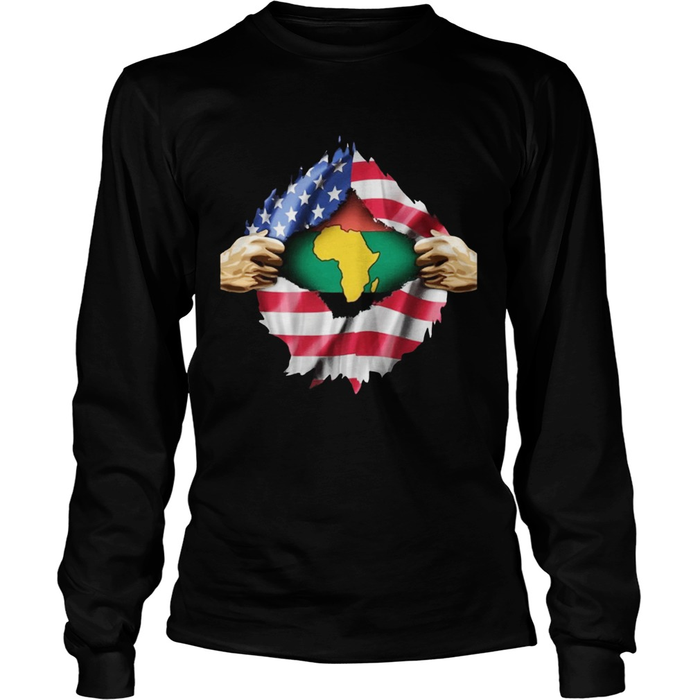 African Blood Inside My American LongSleeve