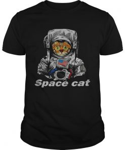 Astronaut Space Cat America flag  Unisex