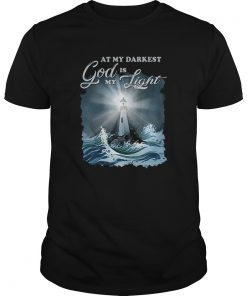 At my darkest god is my lighthouse Jesus Christian  Unisex