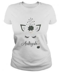 Ava St Patricks Day Personalized Glitter Aaliyah  Classic Ladies
