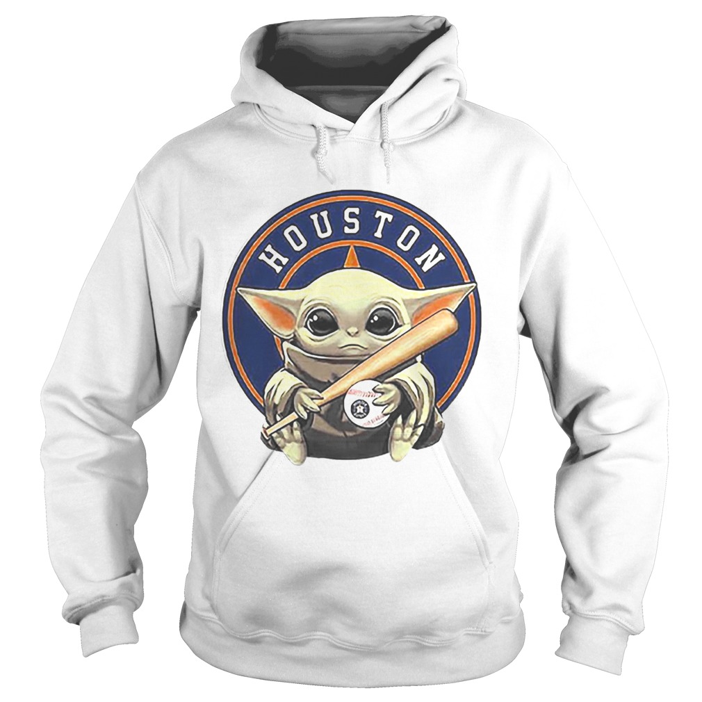 Baby Yoda Houston Astros Baseball Logo Hoodie