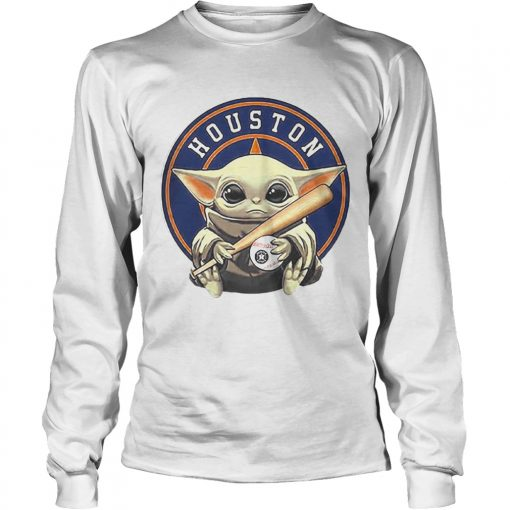Baby Yoda Houston Astros Baseball Logo  LongSleeve