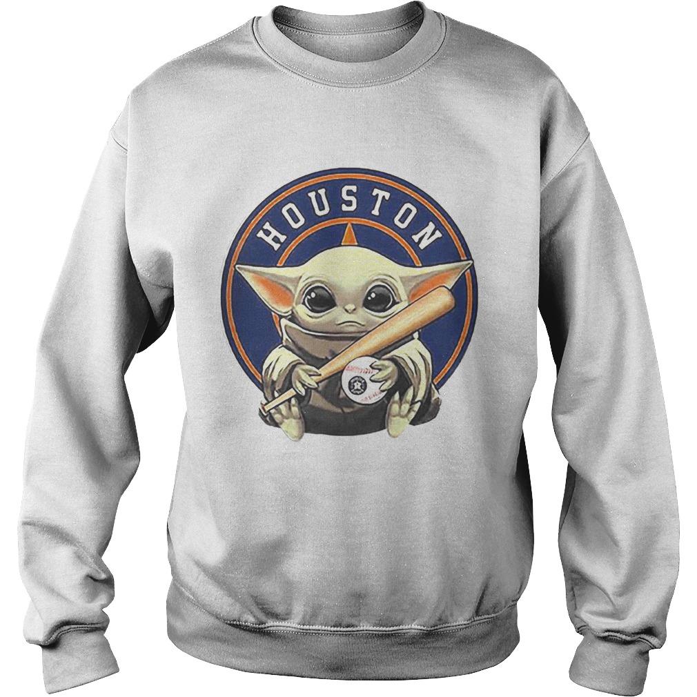 Baby Yoda Houston Astros Baseball Logo Sweatshirt