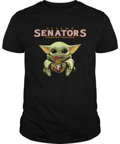 Baby Yoda Hug Ottawa Senators  Unisex