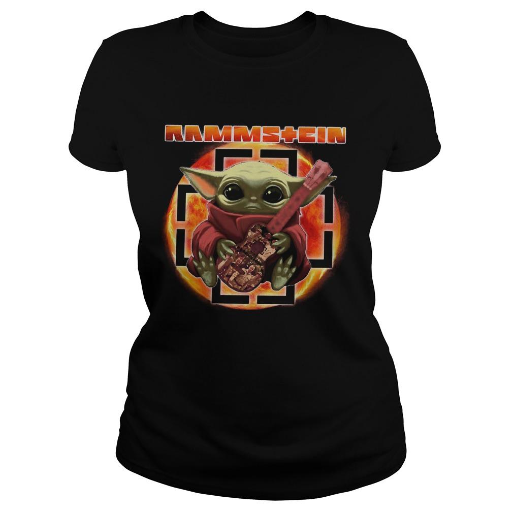 Baby Yoda Hug Rammstein Guitar Classic Ladies