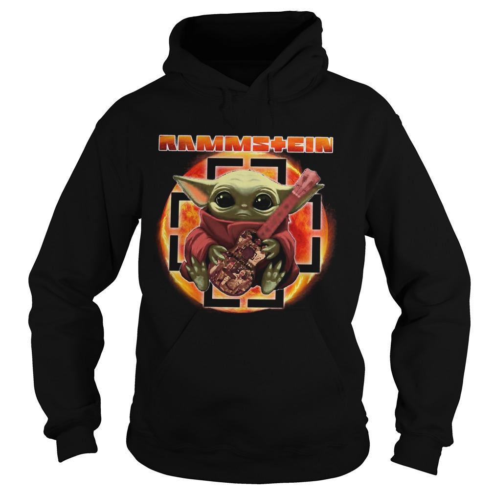 Baby Yoda Hug Rammstein Guitar Hoodie