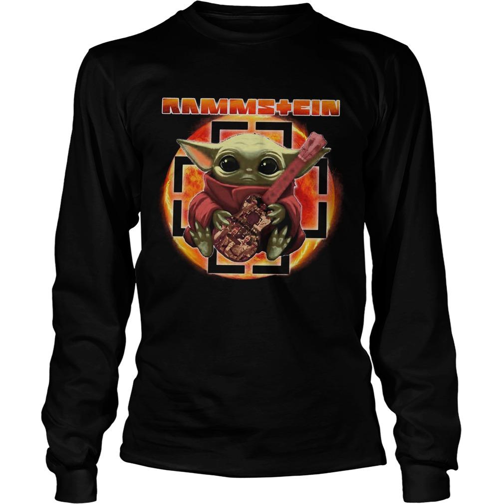 Baby Yoda Hug Rammstein Guitar LongSleeve