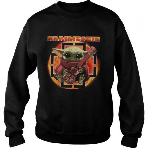 Baby Yoda Hug Rammstein Guitar  Sweatshirt