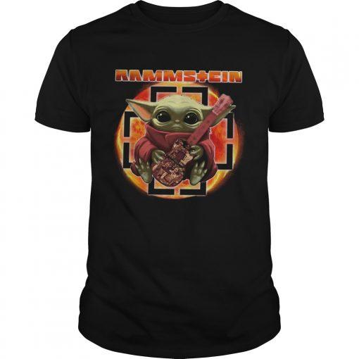 Baby Yoda Hug Rammstein Guitar  Unisex