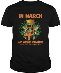 Baby Yoda In march we wear orange  Unisex