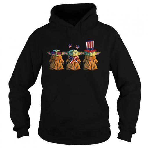 Baby Yoda Patriot American USA Star Wars  Hoodie
