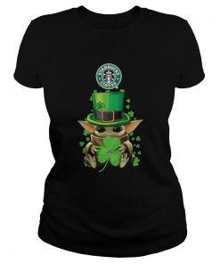 Baby Yoda St Patricks Day Hug Starbucks Coffee  Classic Ladies