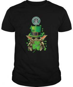 Baby Yoda St Patricks Day Hug Starbucks Coffee  Unisex