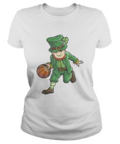 Basketball Leprechaun St Patricks Day Boys Kids Men Sports  Classic Ladies