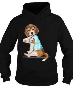 Beagle Tattoo I Love Mom  Hoodie