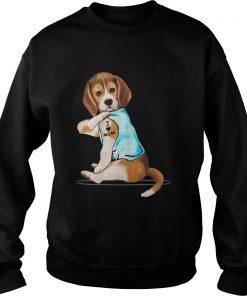 Beagle Tattoo I Love Mom  Sweatshirt