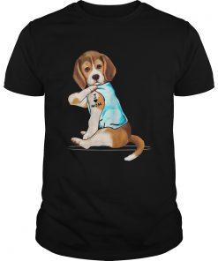 Beagle Tattoo I Love Mom  Unisex